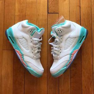 Other - Nike Air Jordan 5 Light Aqua